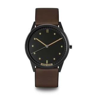 HYPERGRAND - 01 Basic Series - Vintage Black Dial Brown Leather Watch