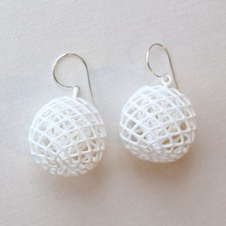 buds white earring