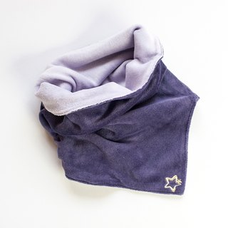 [My little star] Aurora little star-sided hand-made organic cotton neck circumference (thick section)
