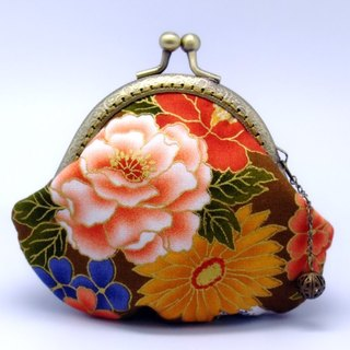 Japanese Kimono Fabric - Small clutch / Coin purse (JS-33)