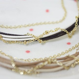 [HBR0021] multi-layered woven bracelet (two-color)