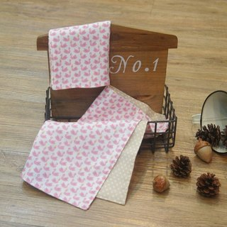 [Swan Dance - pink] soft double gauze handkerchief group