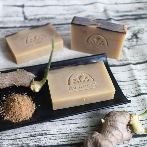 [Soap] Leian Bo warm brown sugar ginger shampoo soap. Natural Ginger essential oils │ winter essential