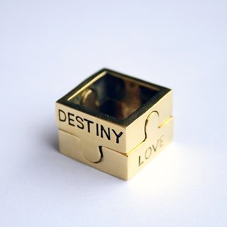 Couple Ring Jigsaw's (Jigsaw Love Rings) DESTINY AND LOVE.