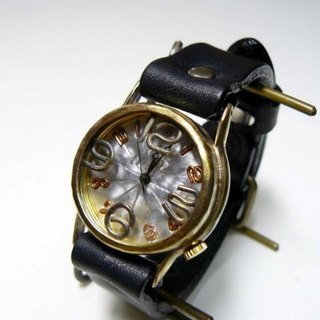 "Handmade watch HandCraftWatch ""On Time-B"" aluminum / BK Mens [214B]"