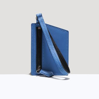 HÉRISSON D'OR calfskin zipper case - Electric Blue