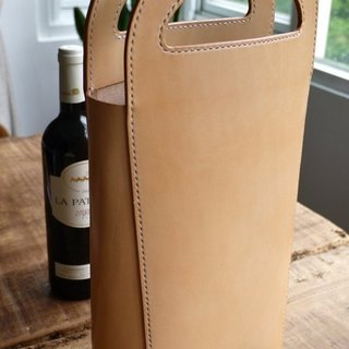 Temperament double wine bottle bag Ritz ー za handmade leather