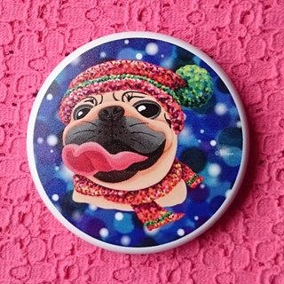 Pug Pocket Mirror-Warm