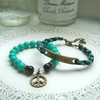 Dream come true bracelet - Black + Tutu Green - 2