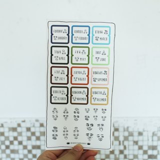 Expression index label stickers | Index Stickers