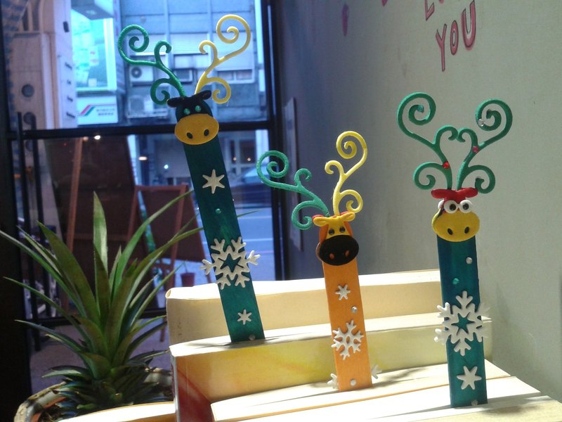 Dear deer (a group of three branches) group of die cutter design bookmark