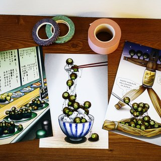 Post card: three natto set