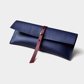 【Poseidon sushi】 leather pencil bag leather pencil box stationery text green graduation gift guest carved letter when the gift father section Father's Day