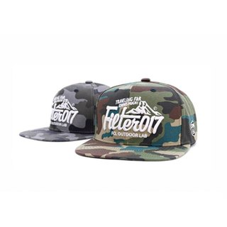 Filter017 OUTDOOR LOGO CAMO SNAPBACK 山形標誌迷彩六片式球帽