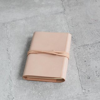 Natural nude color handmade refillable leather journal notebook/ Book Cover A6