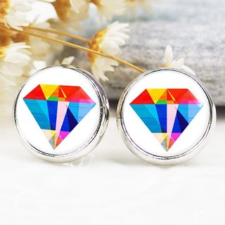 Colored diamonds illustration - ear clip earrings earrings ︱ ︱ ︱ little face modified fashion accessories valentines