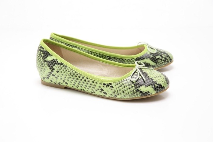[Saint Landry] LAND serpentine bow ballet shoes (green)