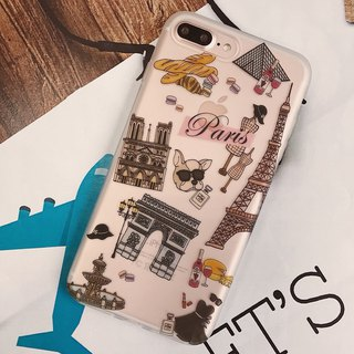 iPhone Case / Soft Shell / Paris / Gift / City