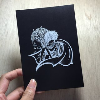 Leo negative Postcards
