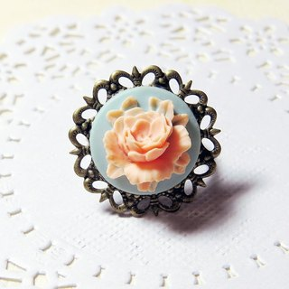 Wei Man} {stereoscopic rose romantic ring