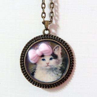 {Kitten Meow} pink bow necklace jewelry ❣ kitten meow ❣
