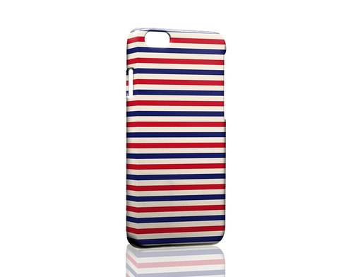 Red, white and blue horizontal fine lines ordered Samsung S5 S6 S7 note4 note5 iPhone 5 5s 6 6s 6 plus 7 7 plus ASUS HTC m9 Sony LG g4 g5 v10 phone shell mobile phone sets phone shell phonecase