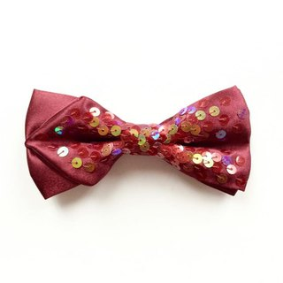 Burgundy color piece bow tie Bowtie