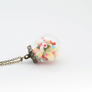 「OMYWAY」Hand Made Glass Globe Necklace