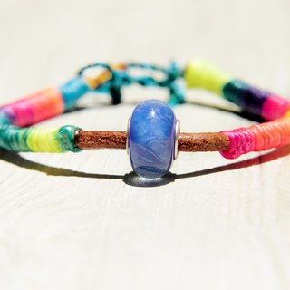 / Tropical Ocean / British glass silk wax line bracelet - colorful gradient sky