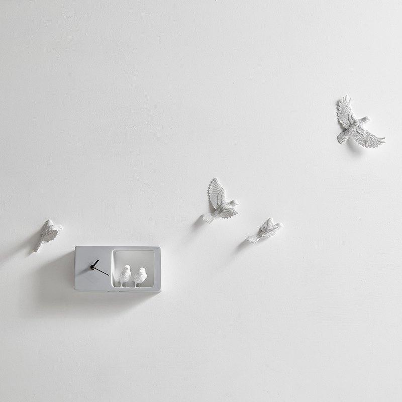 haoshi_Sparrow clock 麻雀時鐘_彩色版/淺灰