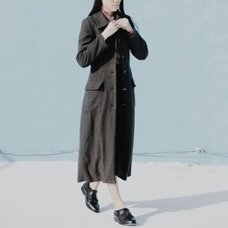 Spend vintage / dark gray slender coats