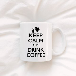 White cup (330ml) keep calm and drink coffee