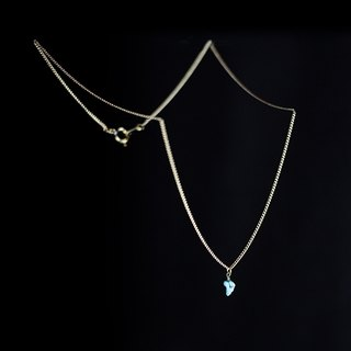 ✡ microstar dust - mini turquoise clavicle chain ✡ turquoise stone miniature jewelry clavicle chain short chain