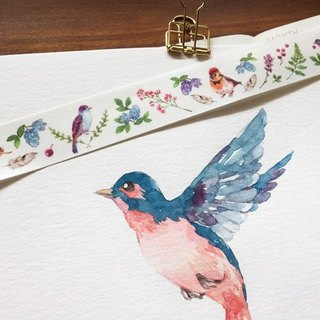 Flower & Bird bird paper tape