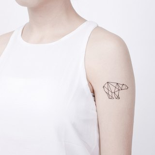 Tattoo Tattoo Stickers / Geometric Polar Bear Surprise Tattoos