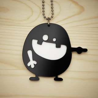 【Peej】'Ha Ha Ha' Double layered Acrylic key chains/necklaces