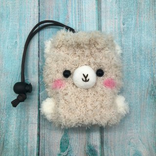 Marshmallow Animal Key Bag - Small Key Bag (Alpaca)