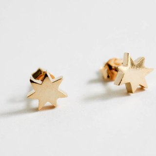 Please Wishing Star brass earrings