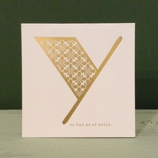 Bronzing letter card envelope sticker group -Y
