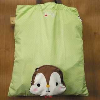 Foldable Reusable Shopping Bag (Squly Head) (D003SQB)