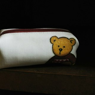 [T - C] Bear handmade purse can hang the bag when the key ring