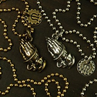 [METALIZE] PRAY HAND NECKLACE Prayer Necklace