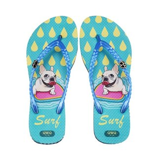 QWQ Creative Design Flip-Flops (No Drills)-Surf-Blue [STN0401504]