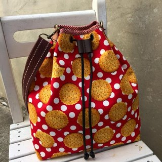﹝ Clare cloth hand-made biscuits bite bright colorful ﹞ Bucket Bag