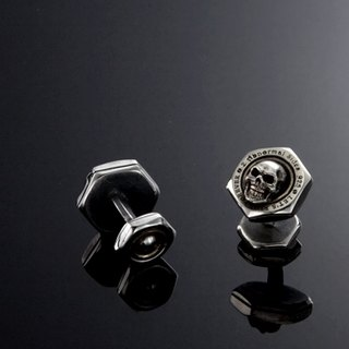 Nut Cufflink with Skull | simple nut Skull Cufflinks
