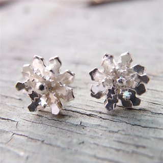 925 sterling silver snowflake earrings