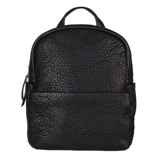 PEOPLE LIKE US Backpack _Black Bubble Leather / Black Litchi Pattern