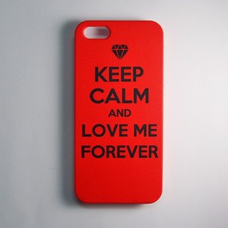 SO GEEK 手機殼設計品牌 THE KEEP CALM GEEK LOVE ME FOREVER款