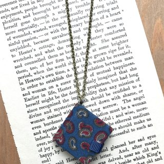 Mini Books Necklace| Cashew Flowers| Blue