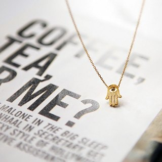Cha mimi. Nefertiti. Palm words of blessing fog gold necklace